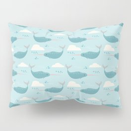 Narwhal blue Pillow Sham