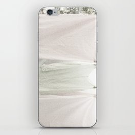 Laundry on the Line in Pink and Green iPhone Skin