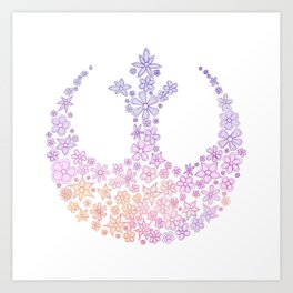 Star Wars Rebel Alliance Flowers Art Print