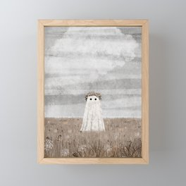 there's a Ghost in the Meadow Autumn Framed Mini Art Print