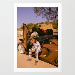 Travi-s Scott Music Silk Poster Frameless Art Print
