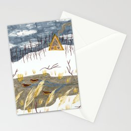 A-Frame Home in the Woods Stationery Cards