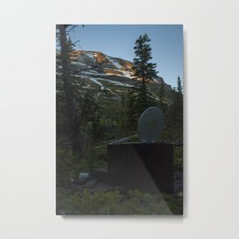 Toilet Sunset Metal Print