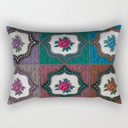 Peranakan Tiles (Textured Multi) Rectangular Pillow