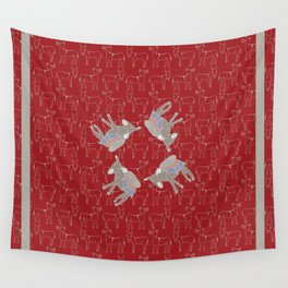 © Litte Burro Wild West Red Wall Tapestry
