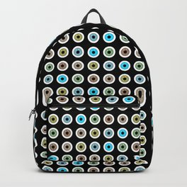 googly eyes pattern Backpack
