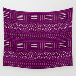 Mudcloth in Pinks Wall Tapestry