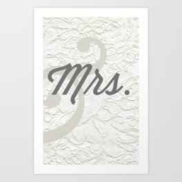 Mrs. Art Print