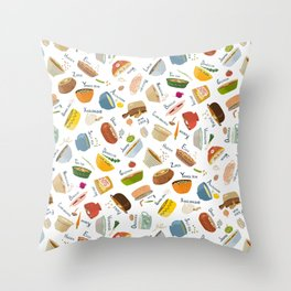 Soups of the World Throw Pillow