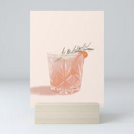 Gin Fizz Cocktail Mini Art Print