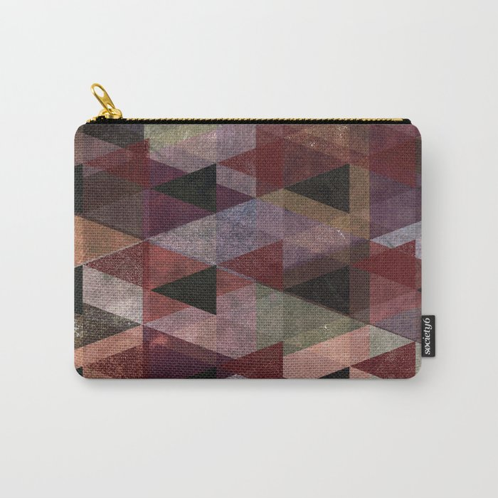 Abstract #482 Triangle Collage Carry-All Pouch