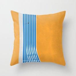 Finish Line | Aerial Illustration Throw Pillow