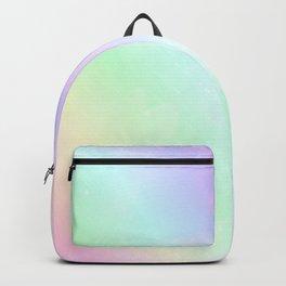 Pastel rainbow ver space universe stars Backpack