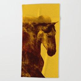 Proud Stallion Beach Towel