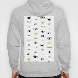 Funny fashion gold and black cute eyes pattern Hoody