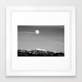 Howlin' At The Moon Framed Art Print