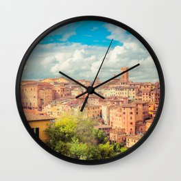 A View of Siena Italy Wall Clock