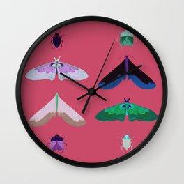 Night of the moth Wall Clock