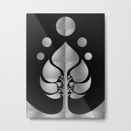 Bodhi Tree0302_SilverNIGHT Metal Print