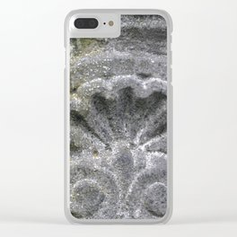 Scalloped Stone Clear iPhone Case