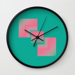 two energies green pink tower Wall Clock