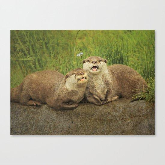 Mr & Mrs Otter Canvas Print