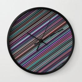 The randomized stripes Wall Clock