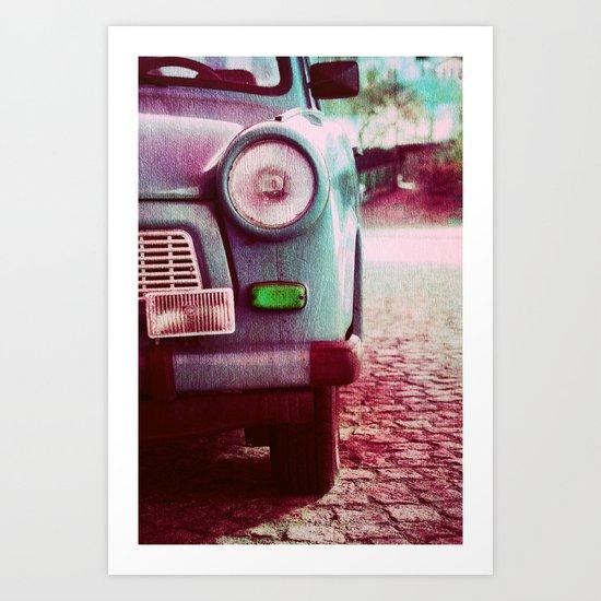 old german car Art Print