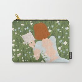Reading in a Meadow  Carry-All Pouch