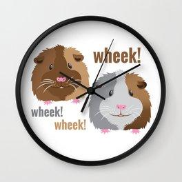 Wheek Wheek Guinea Pigs Wall Clock