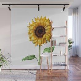 Yellow Sunflower Painting Wall Mural