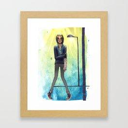 rainy boy Framed Art Print