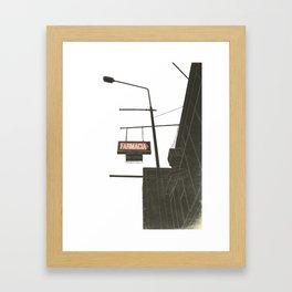 Farmacia Framed Art Print