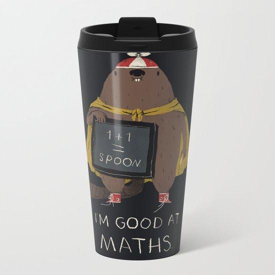 im good at maths Metal Travel Mug