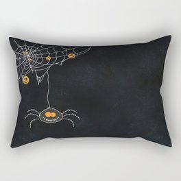 Halloween Spider on Web Rectangular Pillow