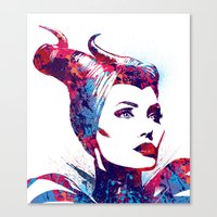maleficent Canvas Prints featuring Maleficent by lauramaahs