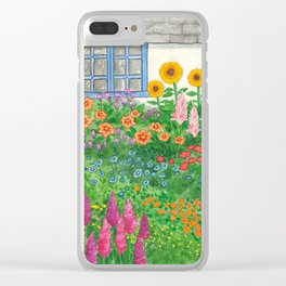Flowers under my window Clear iPhone Case