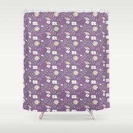 Joyful Folk Floral : Purple Shower Curtain