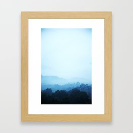 PHOTOGRAPHY / SKY & FOREST 01 Framed Art Print