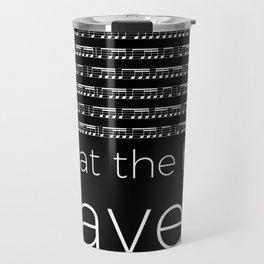 What the hell, Ravel? (black) Travel Mug