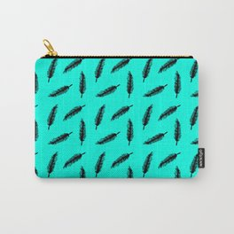 Green Feather Pattern Carry-All Pouch