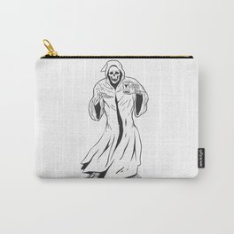 Grim reaper holding an hourglass -  black and white Carry-All Pouch