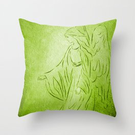 Angel of Healing - Abstract Angel Picture Throw Pillow