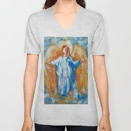 Angel Of Harmony 18x24 Unisex V-Neck