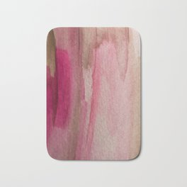 Blush: a pretty and gentle watercolor piece in pinks and browns Bath Mat