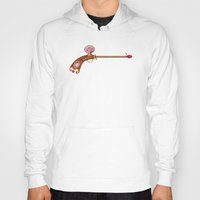 arsenal Hoodies featuring Rose Water Pistol by Katie Lawter