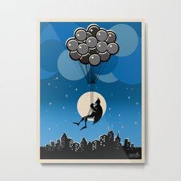 Balloon Bat Metal Print