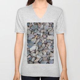 gravel texture Unisex V-Neck