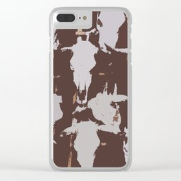 Cowskulls and Ladders Clear iPhone Case