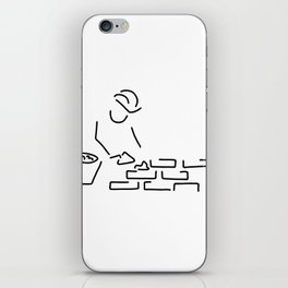 bricklayer construction worker building iPhone Skin
